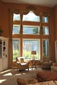 wonderful window treatments for high windows with great view