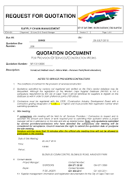 quotation format doc file sample construction quote toreto co