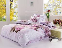 Single Bed Linen Sets Amazing New King Size Bedding Set Purple Floral Quilt Cover Bed