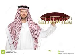 an arab person holding a pillow royalty free stock images image