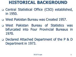 central statistical bureau activities functions of bureau of statistics punjab bos punjab1