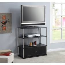 designs 2 go high boy tv stand in black for tvs up to 37