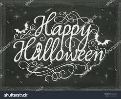 vintage halloween background chalkboard stock vector 210432250