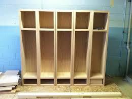 diy kids lockers wood lockers in progress