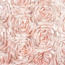 pink rosette table runner wholesale blush rosette flower 3d satin table runner for wedding