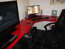 corner gaming computer desk ultra wide setup by mark jardine