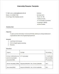 It Resume Templates Free Internship Resume Template Computer Science Internship Resume