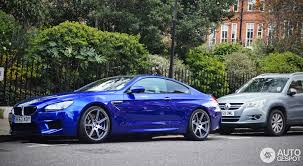bmw m6 blue competition package bmw m6 spotted in autoevolution