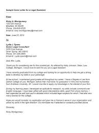 legal assistant cover letter legal cover letter sample cover
