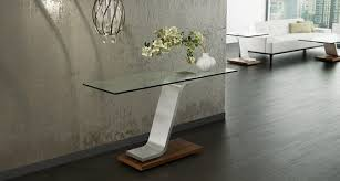 brushed stainless steel console table elite volo console table 2039c
