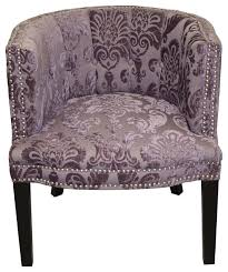 Plum Accent Chair Bohemian Chair Marine Blue Velvet Contemporary Armchairs And