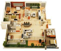 floor plans for a 4 bedroom house best 4 bedroom house plans ideas cookwithalocal home and space decor