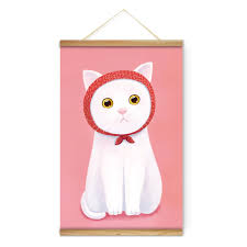 animal white cat childhood decoration wall pictures