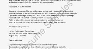 Sample Performance Resume by Performance Resume Template