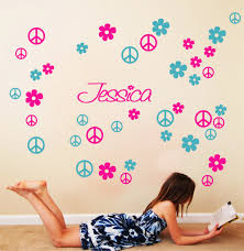 wall decal good look peace sign wall decals peace sign room decor