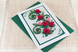 paper greeting cards birthday card handmade quilling greeting card bday