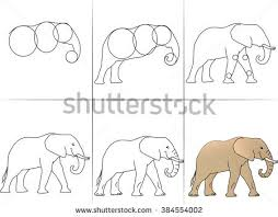 elephant draw stock images royalty free images u0026 vectors
