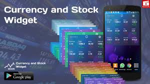 widget android currency and stock widget for android