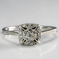 detailed engagement rings milgrain detailed engagement ring 0 16 ctw sz 9 100