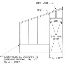 cedar lean to greenhouse plans