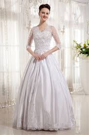 wedding dresses with sleeves uk none floor length v neck half sleeve gown satin uk wedding
