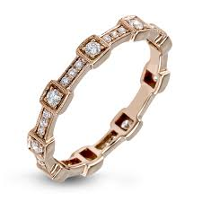 18k u0026 yellow gold modern stackable ring set caviar