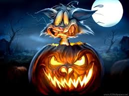 halloween backgrounds hd halloween cat in pumpkin wallpapers hd free desktop backgrounds