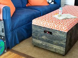 Diy Storage Ottoman Make A Herringbone Wood Box Storage Ottoman Hgtv