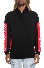 pink dolphin hoodie promo block pullover black karmaloop com