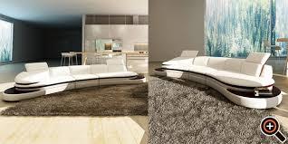 wei braun wohnzimmer designer modernes sofa fürs wohnzimmer aus leder in weiß
