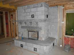 reading pa fieldstone double bell see thru masonry stovefire
