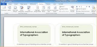 printing membership cards using mail merge online help wild