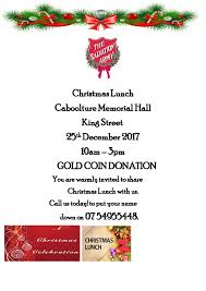upcoming events the caboolture salvation army christmas lunch