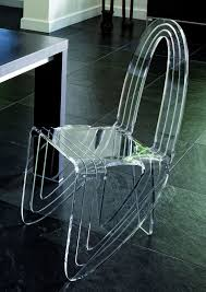 Chaise Transparente Rose by