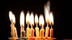 happy young woman blows out birthday candles stock footage video