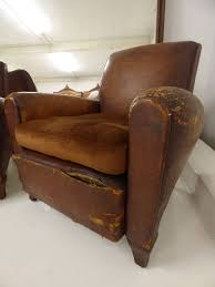 Vintage Leather Club Chair Pair Of Vintage 30 40s French Leather Club Chairs Just In V81