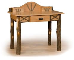 Student Writing Desk by Rustic Hickory Log U0026 Oak Lodge Style Student Writing Desk