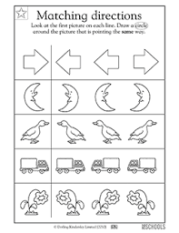 kindergarten preschool math reading worksheets matching