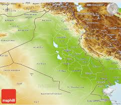 map of irak physical 3d map of iraq