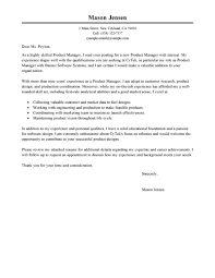 leading professional product manager cover letter examples