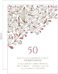 50th wedding invitations 50th birthday invitations