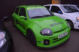 clio renault v6 2001 green renault clio v6 ph1 recreation turbo charged 238 bhp