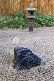 Rock Zen Garden Large Lava Rock Anchors The Japanese Raked Zen Garden With