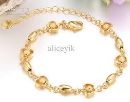 gold chain charm bracelet images D154 18k gold plated apple bead chain charm bracelet boy girl man jpg