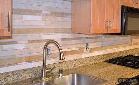 Backsplash With Venetian Gold Granite - decosee stainless steel subway tile backsplash