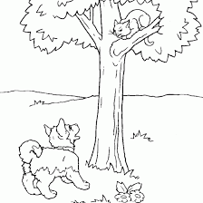 animals coloring color coloring tags dog cat drawing