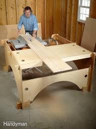 portable track saw table diy table saw table the family handyman