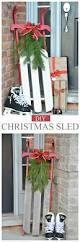 diy christmas sleigh christmas sled holidays and christmas decor