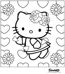 valentine kitty coloring free download