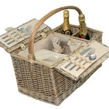 picnic basket for 2 willow picnic baskets luxury christmas willow hers candle and